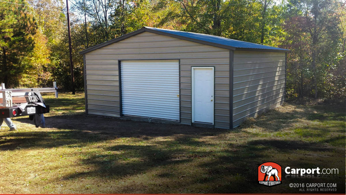 Vertical style garage 20 39 x 26 39 x 9 39 shop metal garages for Carports and garages