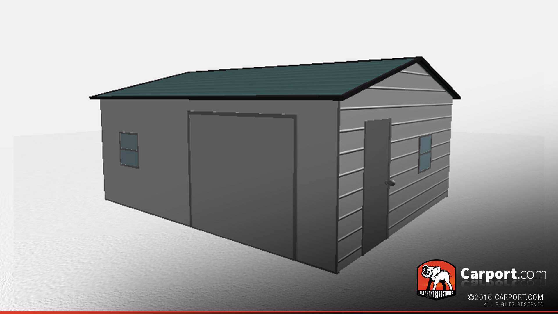 Durable 18 39 x 21 39 fully enclosed metal garage metal for Durable sheds
