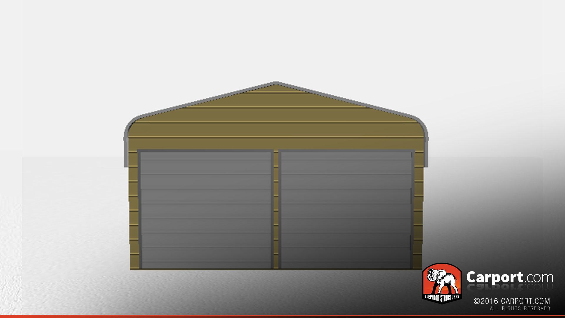 Durable regular style metal building garage 20 39 x 26 for 20 x 26 garage