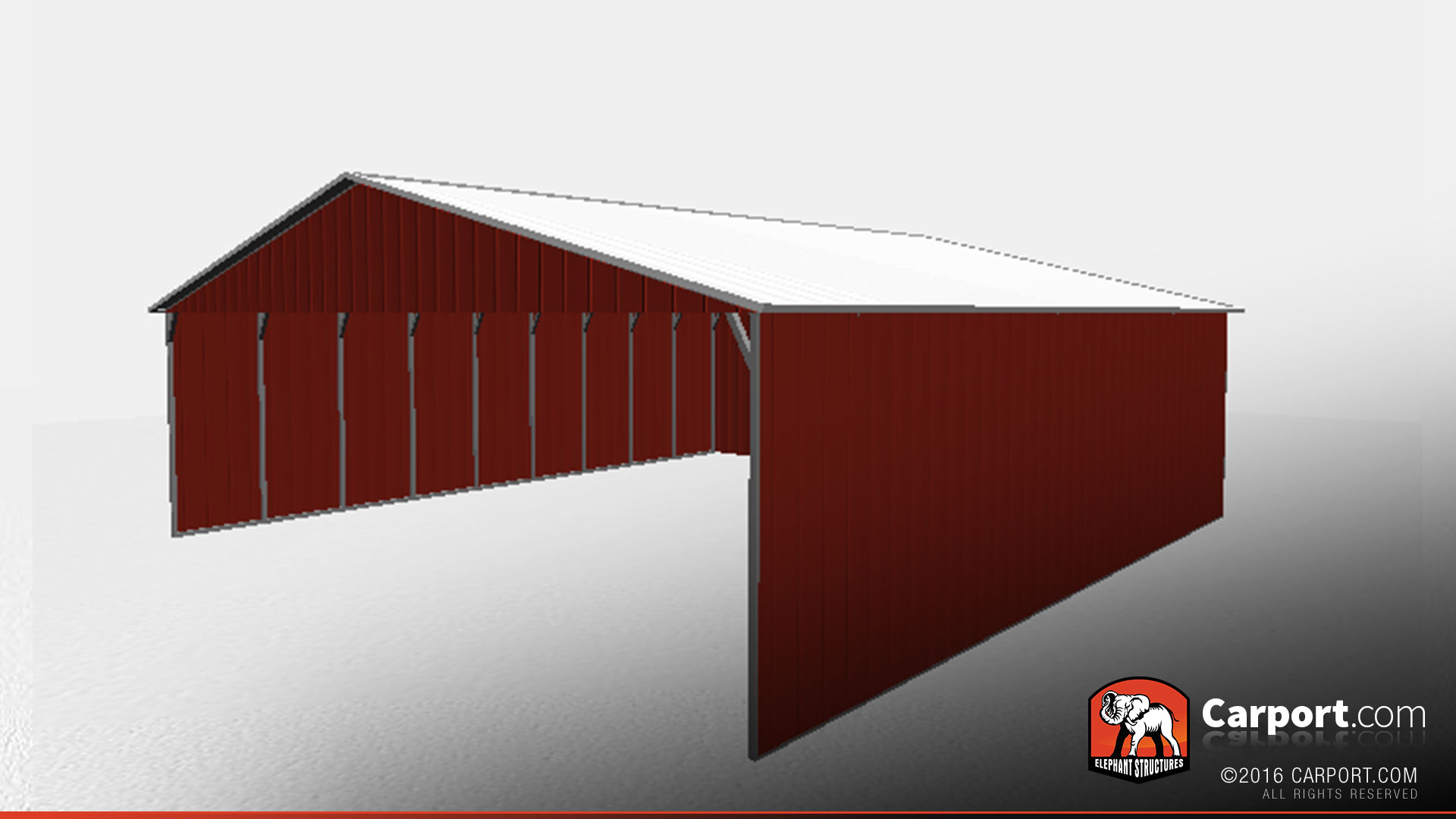 Durable Rv Carport With Vertical Roof And Sides Shop