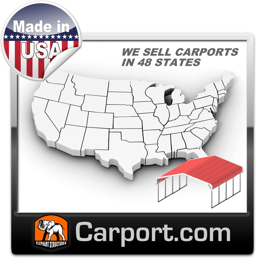 Free carport delivery and installation in these locations across the USA.