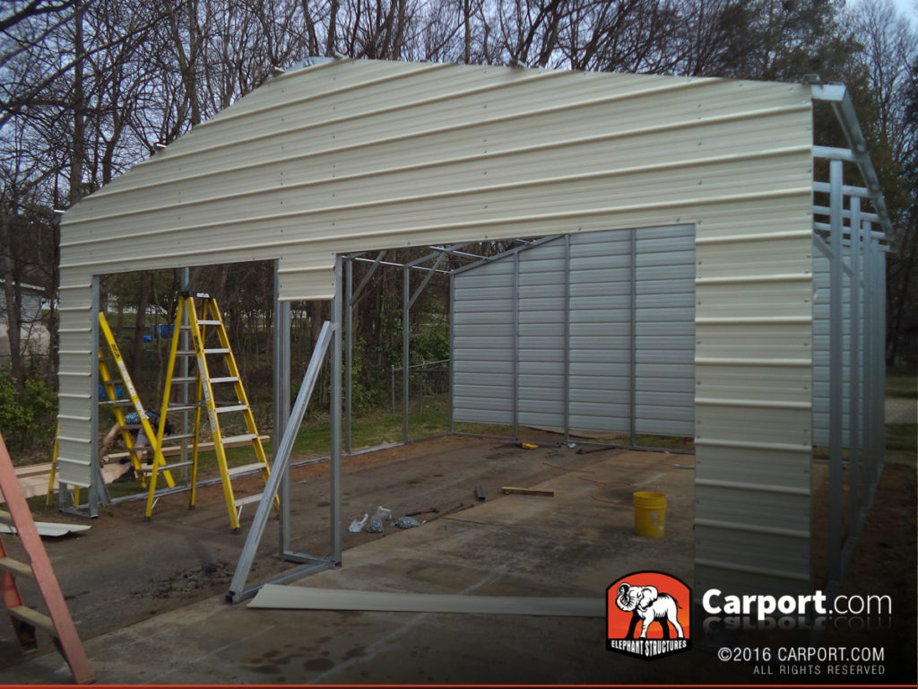 Elephant Buildings Carports : Elephant structures has satisfied customers carport