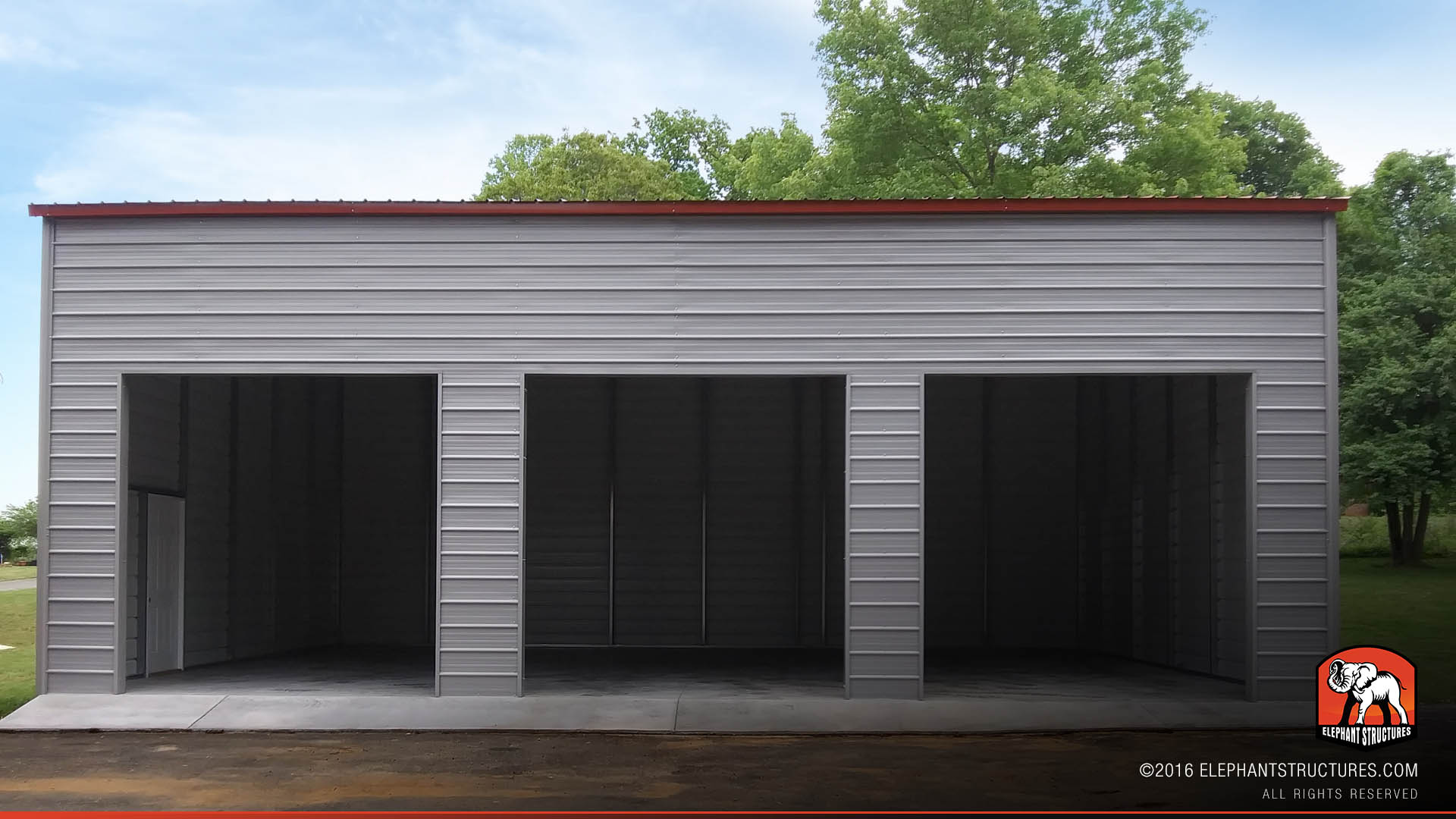 3-Car Metal Building Garage
