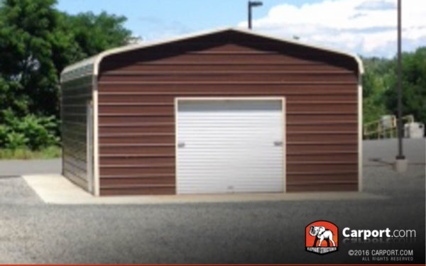 18x21x8 Double Wide Garage with Clay Roof and Clay Trim