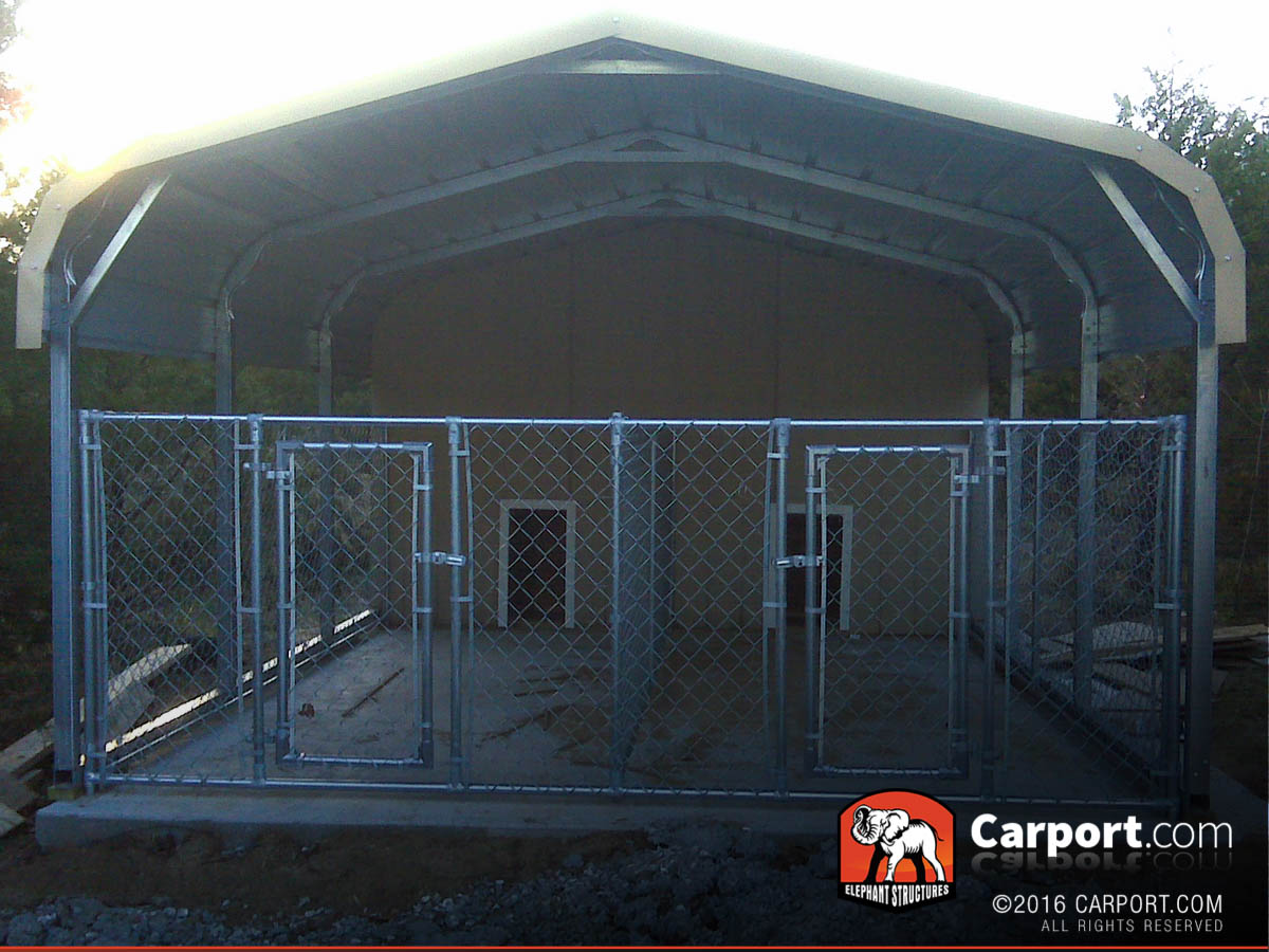 20x21 Double Wide Carport Shelter