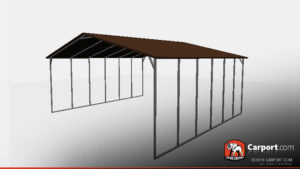 open style steel carport w boxed eave roof