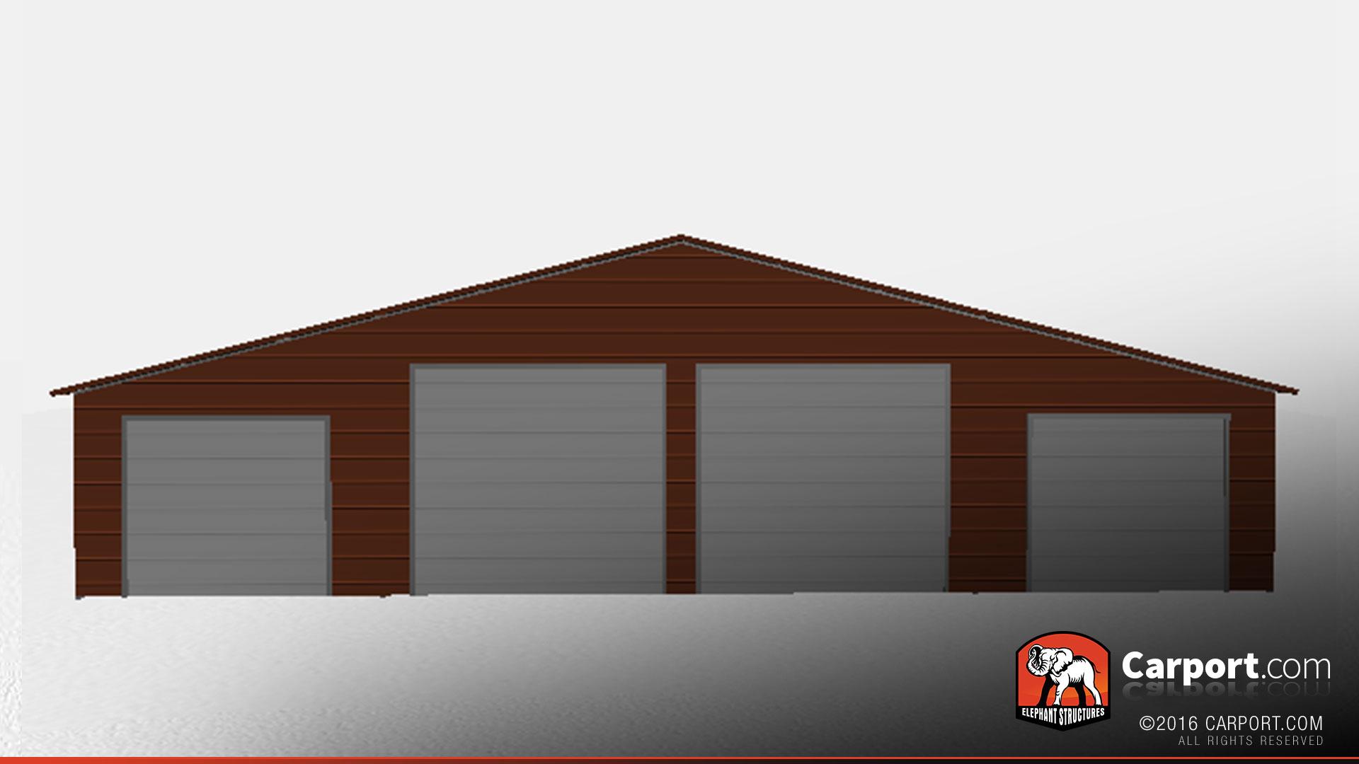 steel building & Steel Building with Four Garage Doors 48\u0027 x 26\u0027 x 12\u0027 Metal Barns Pezcame.Com