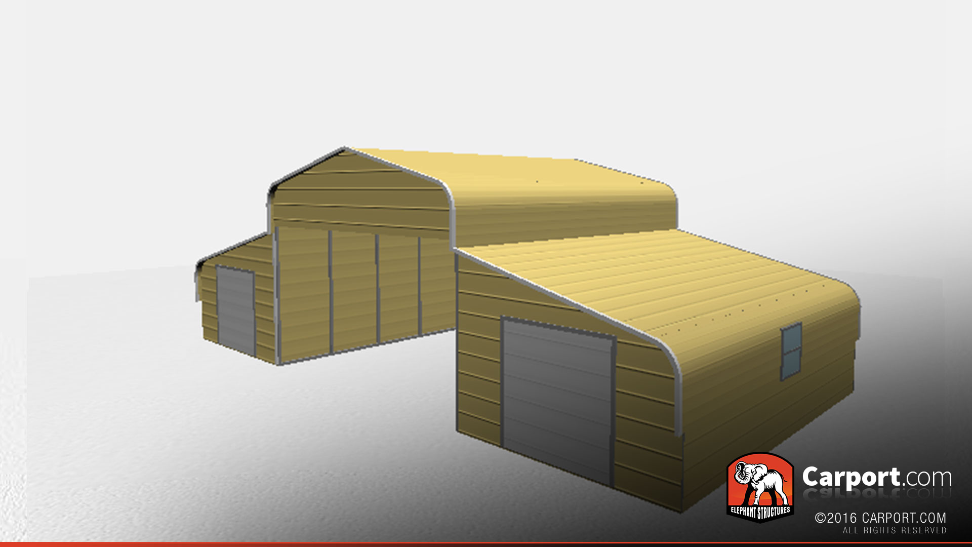 Strong Metal Barn With Curved Roof Style Shop Metal Buildings Online