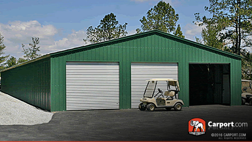40x60 Commercial Storage Building 3 Bay Garage