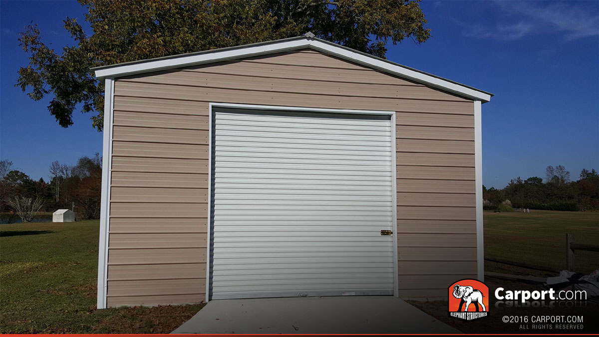 20 x 30 x 12 custom wide garage with clear panels 89483