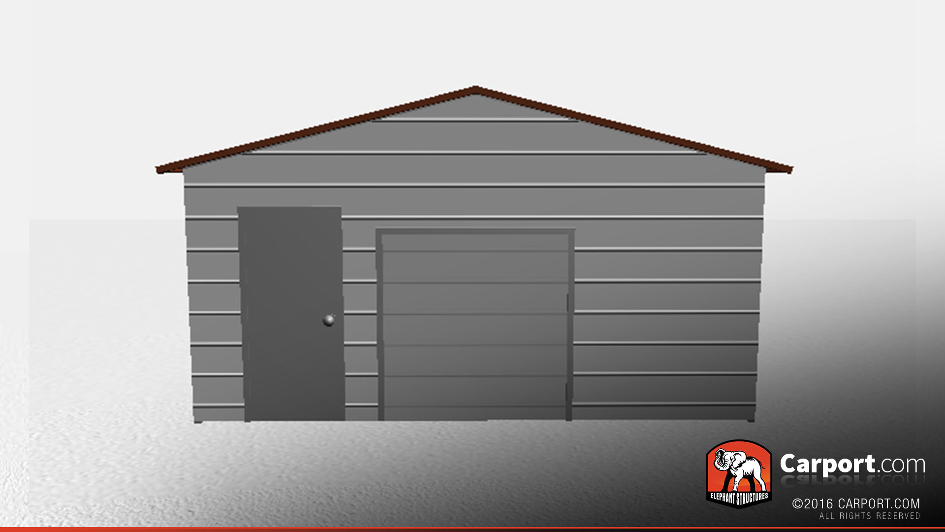 Two car metal workshop garage with a frame roof buy for Garage workshop buildings
