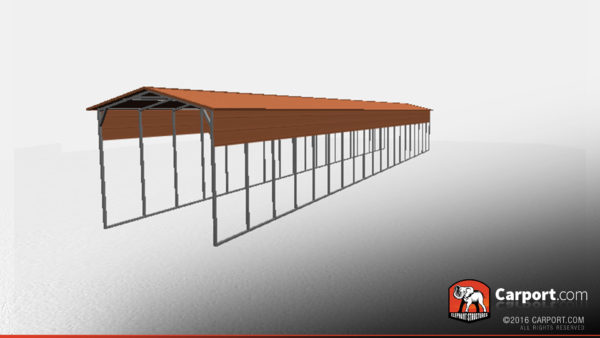 12 x 80 x 10 metal carport with open sides