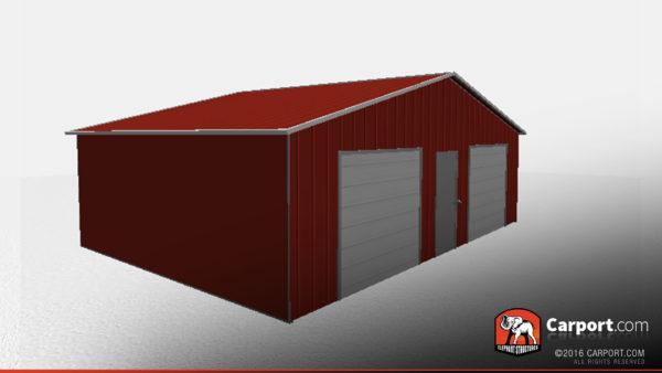 vertical style metal garage