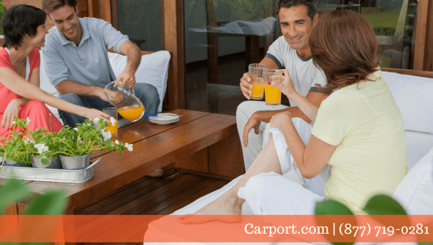 Enjoying your indoor outdoor living area with friends